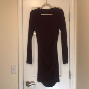 BRAND NEW EXPRESS burgundy pencil sweater dress